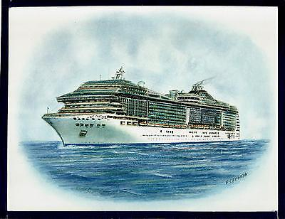 Original Art Work     Msc  Fantasia    Msc Cruises    Cruise Ship
