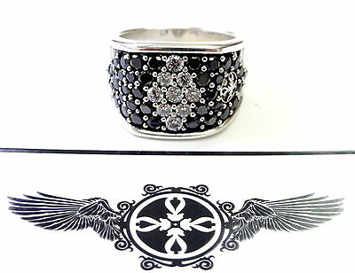 Men's Silver Fashion Ring With Diamonds by Sacred Angels