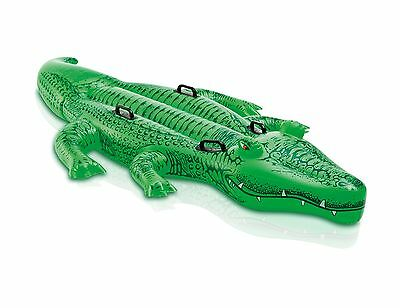 Intex Friendly Gator Giant Inflatable Swimming Pool Ride-On Raft | 58562EP