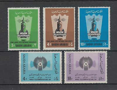Saudi Arabia Sc 622-626 MNH. 1971 issues, run of 2 complete sets, VF