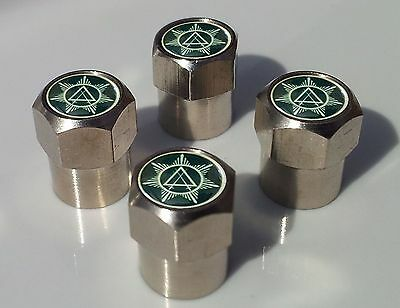 FREEMASON MASONIC COUNCIL OF KNIGHTS ALLUMINIUM TYRE VALVE CAPS FOR TIRE WHEEL