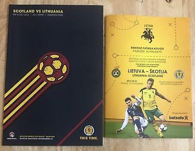 Lithuania V Scotland 1 Sept 17  And  Scotland V Lithuania  08 Oct 16 Programmes