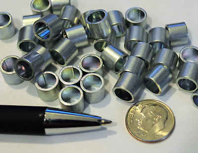 Rolled Steel Spacer Sleeve Bushing Tube Part 7mm X 7.5mm 100 Pcs Craft Rings