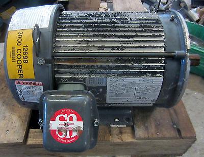 Emerson 3hp Electric Motor U3e1dc-c 208-230460v 182tc Encl. Te Used