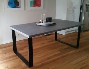 CONCRETE DINING TABLE ON METAL BASE Sandringham Bayside Area Preview