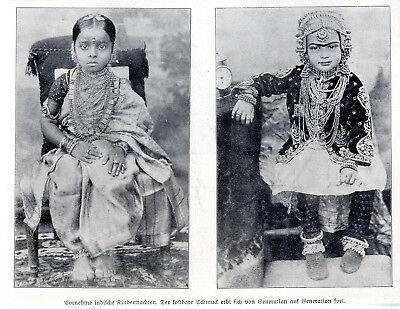 Tracht Von Indien (Indien Mode & Kultur Vornehme Kindertrachten von 1911)