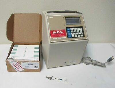 Amano Microder Mjr7000 Computerized Time Clock Timecards Eith Key And Time Cards