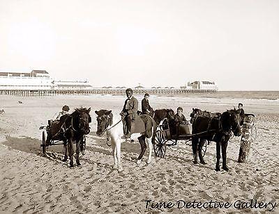 Ride Print Jersey - Children Riding Ponies, Atlantic City, New Jersey - 1901 - Historic Photo Print