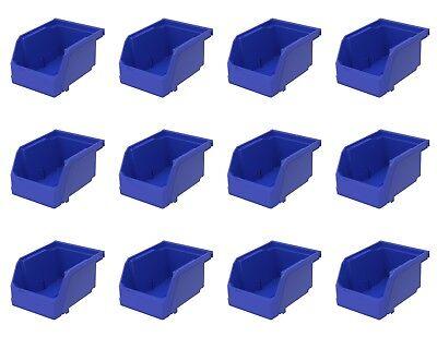 12 Pack 7 38 X 4 18 X 3 Plastic Inventory Storage Stacking Shelf Parts Bins