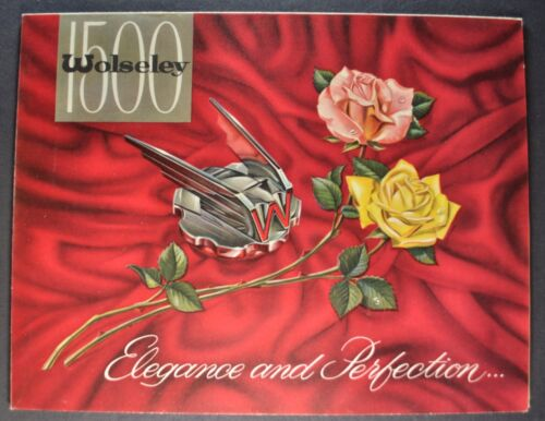 1962-1963 Wolseley 1500 Sales Brochure Folder Excellent Original