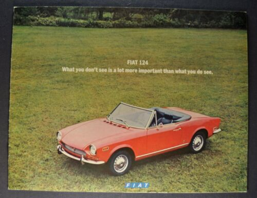 1971 Fiat 124 Brochure Sport Coupe Spider Wagon Special Excellent Original 71
