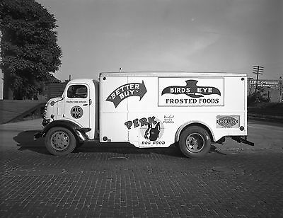 1948 Birds Eye Frosted Foods Commercial Delivery Truck  8 x 10 Photograph