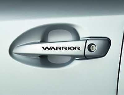6x Warrior Car Door Hadnle Decals Stickers Adhesives Premium Quality Car Sticker
