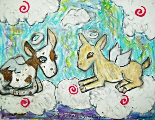 Nigerian Dwarf Dairy Goat Angels - 5x7 Art Print - Wall Décor - Artist KSams