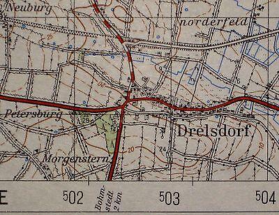 1320 Drelsdorf, topographische Karte, 1:50.000, gedruckt 1963, ungefaltet !!