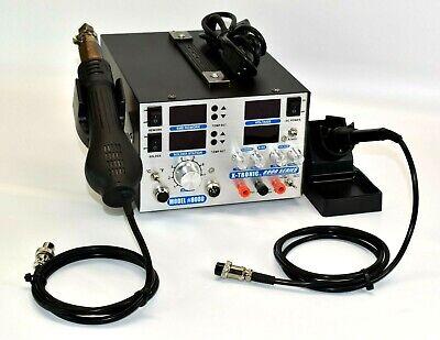 X-tronic Model 8080 Esd Safe Full Digital Hot Air Rework Soldering Iron Station