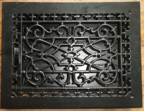 "Rejuvenation Victorian Style Vent Register Cover w louver assembly 10"" X 14"" PO"