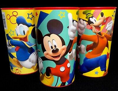 Disney MICKEY MOUSE & FRIENDS 22 oz. Plastic Birthday Party Favor Cups, Set Of 3](Mickey Mouse Plastic Cups)