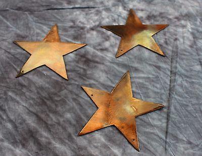 Star Trio Copper/Bronze  Metal Wall Art Decor
