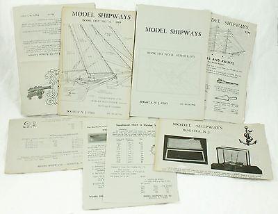 Vintage 1969 1971 Model Shipways Book List No 18 14 Ship Catalog Price Ad Lot
