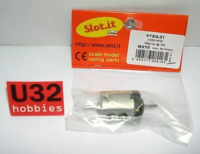 SLOT.IT MX15 MOTOR V12/4-21 21000 rpm 150gr cm 12v CAJA CORTA