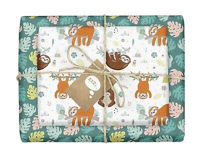 papier (zweifarbig) + 4x Geschenkanhänger für Kinder NEU (Faultier Für Kinder)