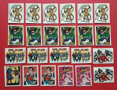 (23) 1979 Cracker Jack Stamp Prize Lot: Superman-Green Lantern-Wonder Woman++