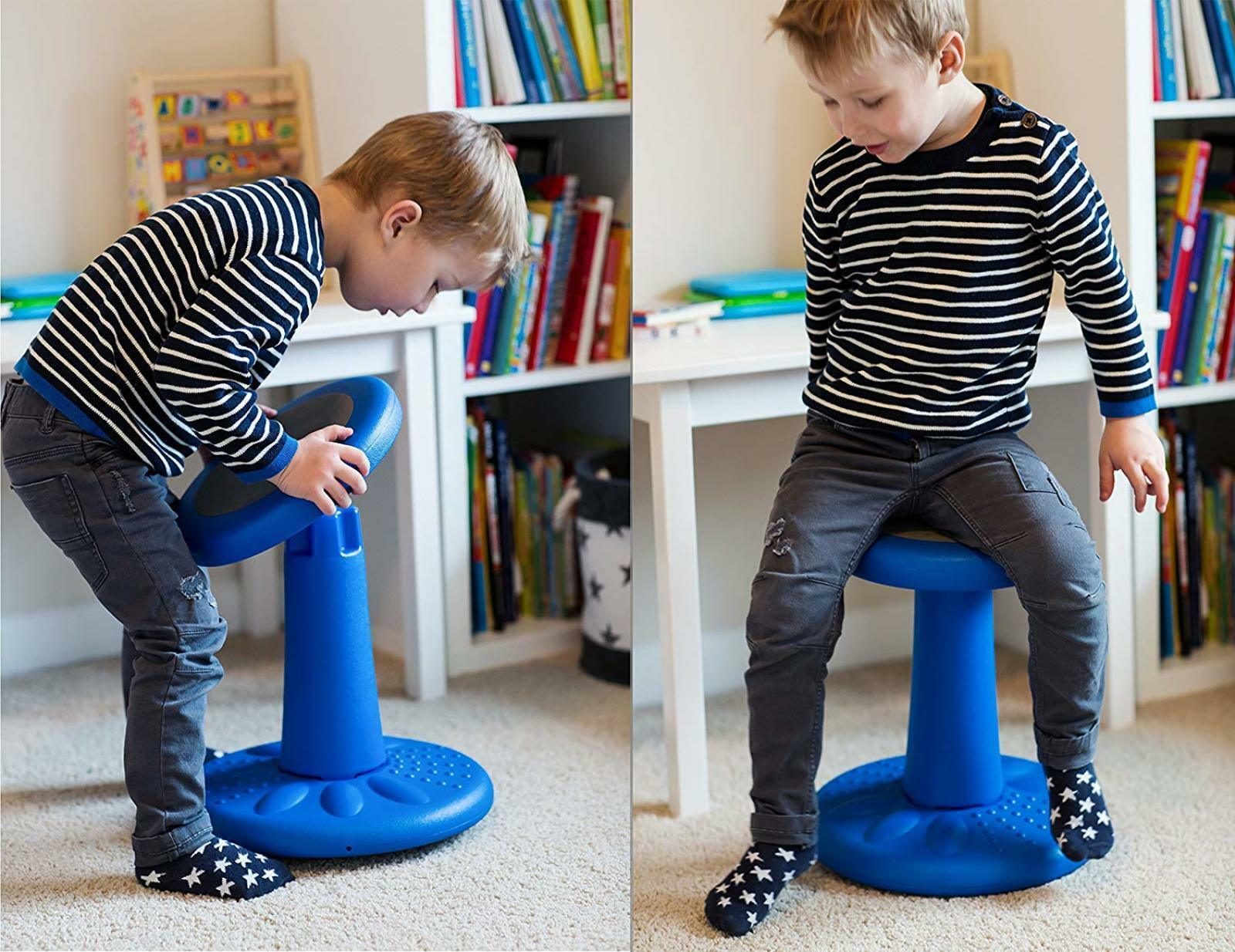Remarkable Details About 14 Kids Active Chair Flexible Non Slip Corrects Posture Ages 3 7 Years Blue New Unemploymentrelief Wooden Chair Designs For Living Room Unemploymentrelieforg