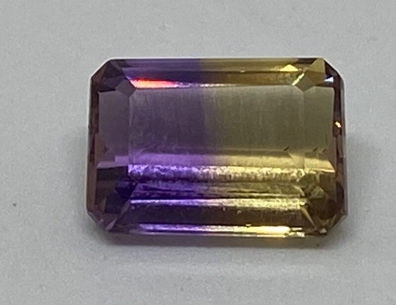 3.01ct Natural Untreated Yellow & Purple Ametrine Octagon New Loose