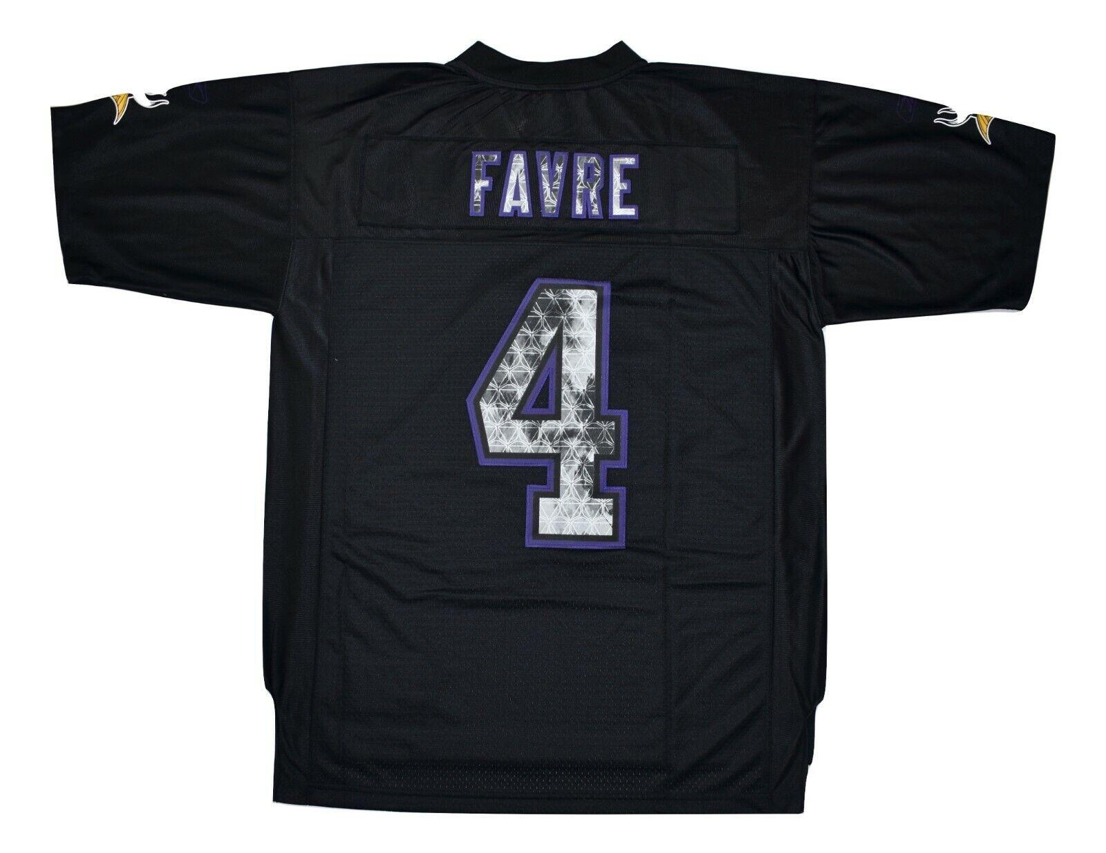 Reebok NFL Minnesota Vikings Brett Favre Rare Mens Sewn Spec