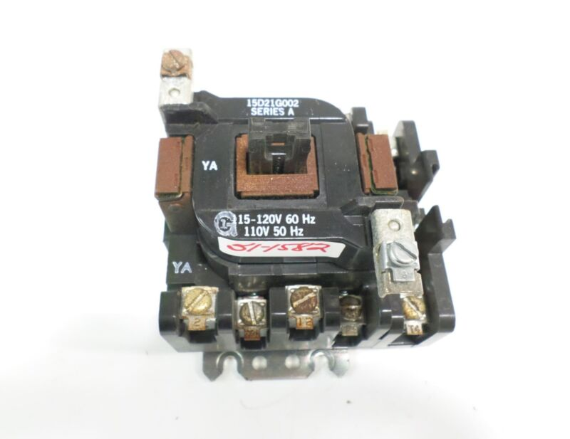 GENERAL ELECTRIC CONTACTOR W/COIL 15D21G002