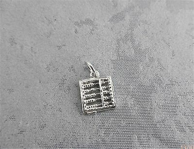 "Sterling Silver (925)  Solid 3D Charm ""Abacus"""
