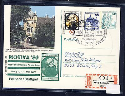 58020) Bund Zudruck GA P 129 BPK MOTIVA '80 Fellbach/Stuttgart Zusatz Reco