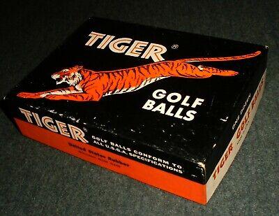 RARE Tiger Golf Balls Vintage Empty Box, U.S. Rubber, Providence, Rhode Island
