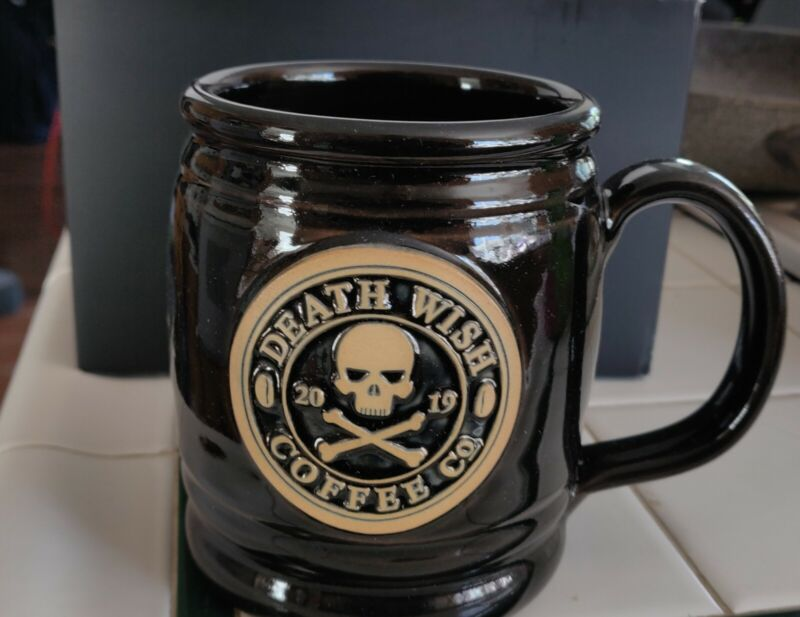 NWT Death Wish Coffee Mug