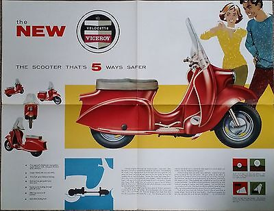 Velocette Viceroy scooter Brochure/Poster Original new old stock
