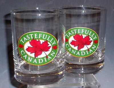 Set of 2 'Tastefully Canadian' Logo 12oz Tumblers