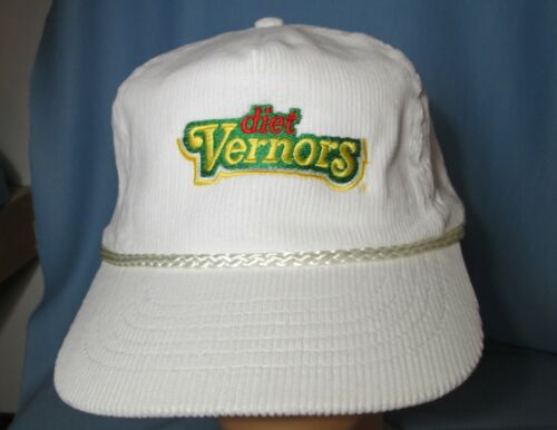 Diet VERNORS Vintage Corduroy Baseball Truckers Hat - 1980 Advertising   NWOT