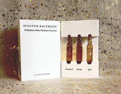 SUSANNE KAUFMANN Pollution Skin Defence System~3 x 2ml (0.06 fl oz)~BNIB~Fresh~