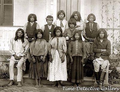 Chiricahua Apache Children at Carlisle Indian School -1880s-Historic Photo Print