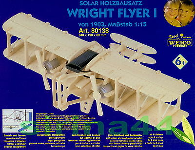 "3D-Puzzle Modellbausatz Flugzeug ""Wrights Flyer I"" Holz 34x19x8 cm ab 8 Jahre"