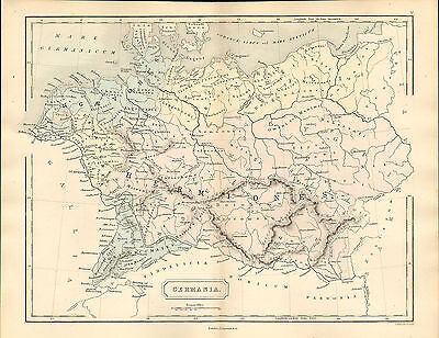 antient geography map by samuel butler 1869 - germania