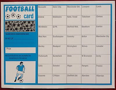 x 1 FOOTBALL FUNDRAISING SCRATCH CARD