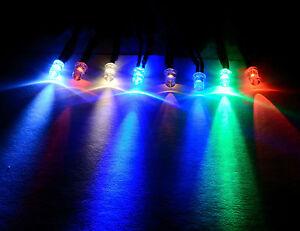 12V Ultra-Bright 3mm 5mm 10mm Prewired LED with Black Bezel Holder All Colours