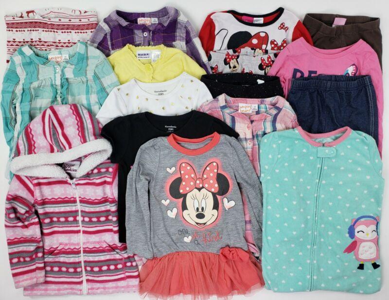 Girls Mixed Clothes Lot 3t Minnie Disney Carters Sleeper Hoodie Leggings Fleece