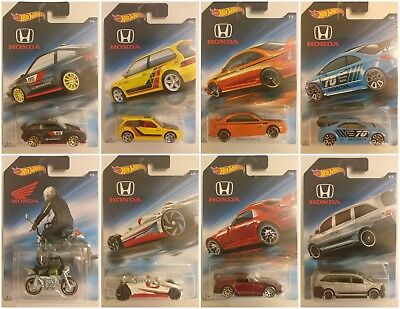 2018 Hot Wheels HONDA SET SERIES Diecast Metal Toy Cars 1:64 PRIORITY SHIPPING