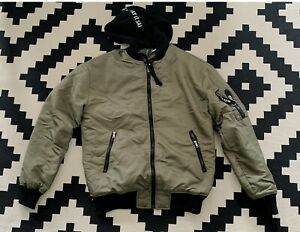 Mens Stylish H&M  BOMBER jacket ARMY GREEN