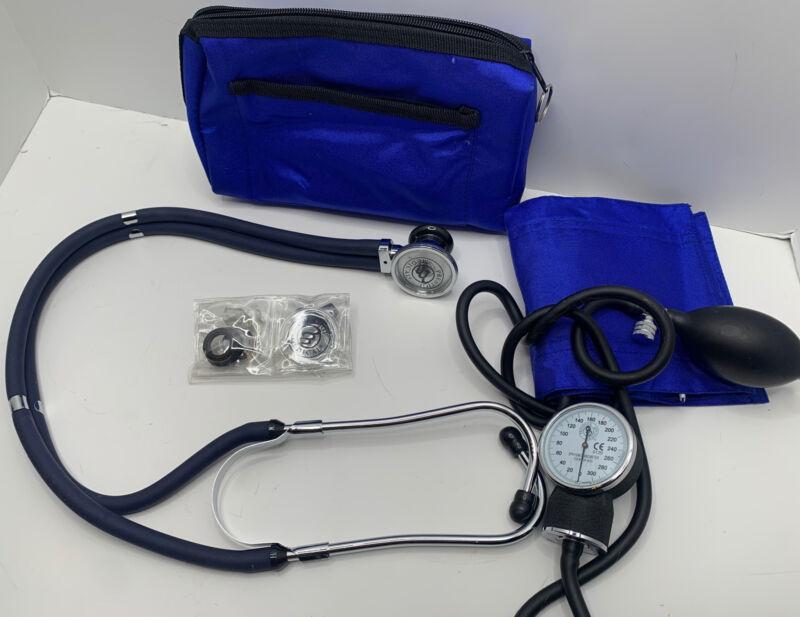 Prestige Medical Aneroid Sphygmomanometer/Sprague-Rappaport Kit, Royal Blue