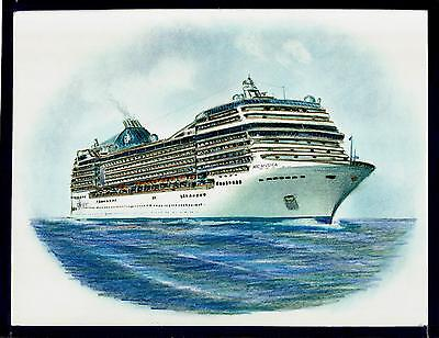 Original Art Work     Msc  Musica    Msc    Cruise Ship