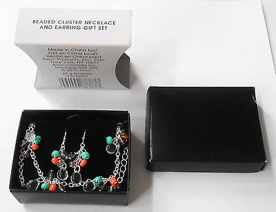 AVON BEADED CLUSTER NECKLACE AND PIERCED EARRINGS GIFT SET 2013 LOVELY SET